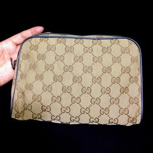 Authentic Gucci GG pouch